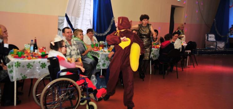Новогодний бал инвалидов района
